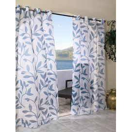 Escape Leaf Grommet Window Single Curtain Panel