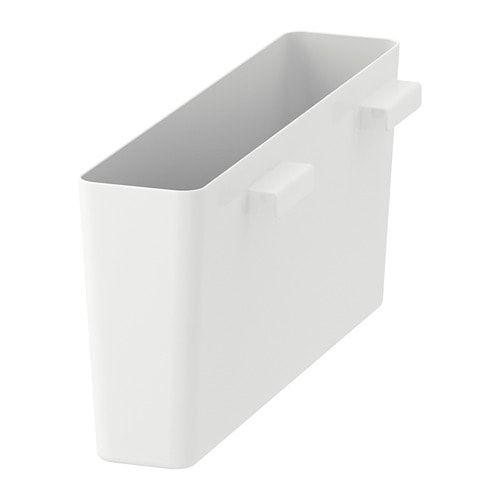 Variera High Gloss White Storage Box Ikea Ikea Kitchen Shelves Organization Storage Box