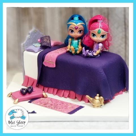 Incredible Shimmer And Shine Birthday Cake Nj Custom Cakes With Images Funny Birthday Cards Online Inifofree Goldxyz