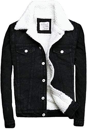 New Denim Jackets Trendy Xu Winter Black Slim Fit Fleece Fur Jean Coat Men Online Theperfectclothing Winter Outfits Men Men S Coats And Jackets Denim Jacket Men