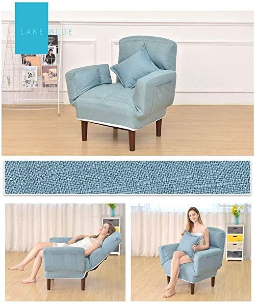 Recliner Chair Ottoman Leisure Armchair Fabric Dining Chair With Footrest Stool Ottoman For Office Living R Fabric Dining Chairs Simple Sofa Living Room Office