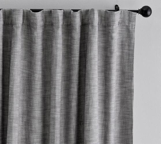 Seaton Textured Blackout Curtain Gray Blackoutcurtainsforbedroom Blackout Curtains Curtains Grey Blackout Curtains