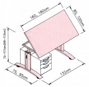 Dimensiones mesa despacho buscar con google medidas for Mesas de dibujo baratas