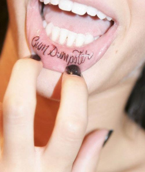 Got cum slut tattoo shes