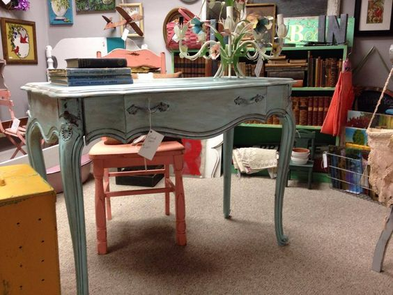 Beautiful Vintage French One Drawer Desk $245 at #MaisonStGermain #Woodbury #CT #ShopLocal