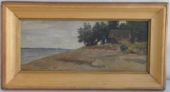RUSSIAN UKRAINE OIL LANDCAPE PAINTING IMPRESSIONISM SIGNED '55 #Impressionism