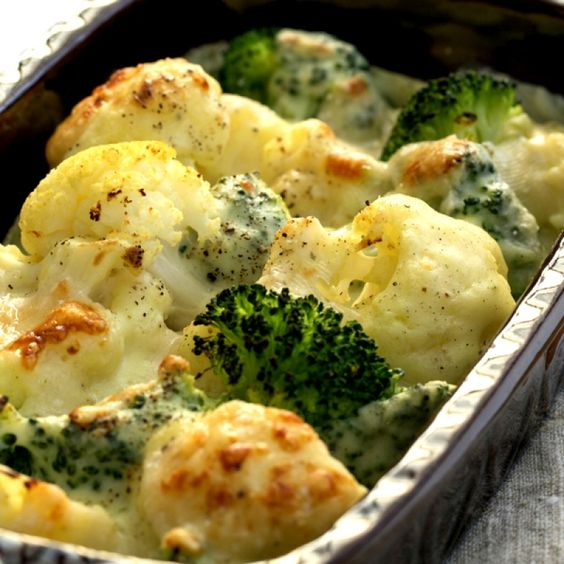 This cauliflower broccoli gratin recipe is cheesy and full ...