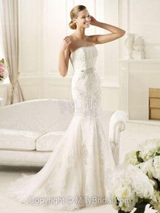 Organza Strapless,Wedding Dress
