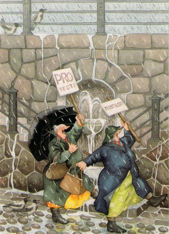 A két bohókás anyóka téli kalandjai - Inge Löök ecsetje nyomán