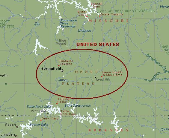 The Ozark To English Online Dictionary Linguistics - Ozark plateau on us map