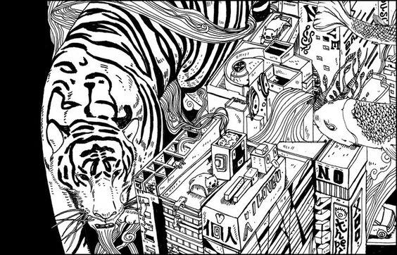 Illustration::Tiger City - Shan