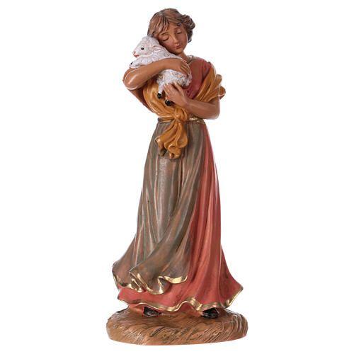 Pastora con cordero belén 12 cm de altura media Fontanini