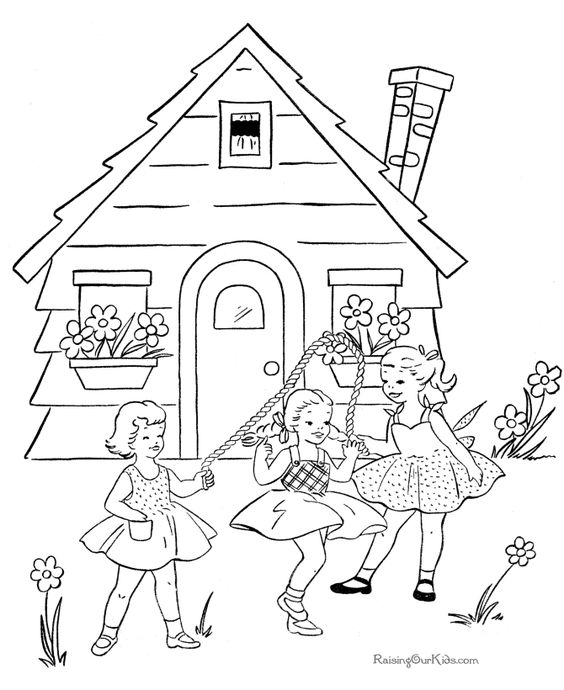 School Page To Color 008 Coloring Pages Colorful Pictures School Coloring Pages