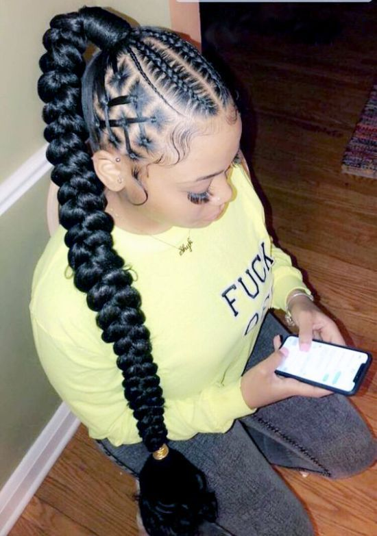 Fishtail Braid 39 Diversified Hairstyles With Fishtail Hair New Natural Hairstyles Goddess Braid Ponytail Hair Ponytail Styles Braided Hairstyles