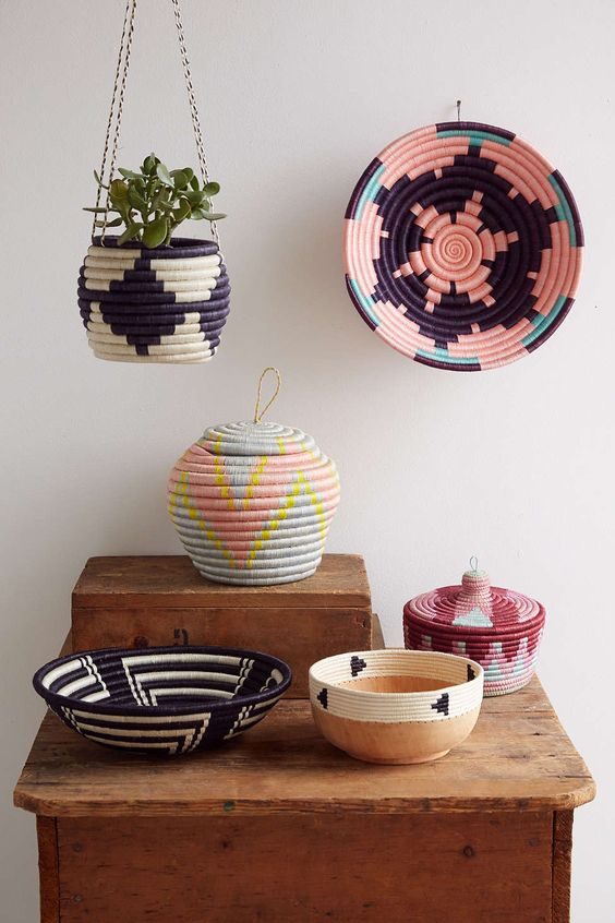 Indego Africa Geometric Plateau Basket Urban Outfitters