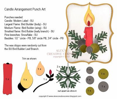 Alexs Creative Corner: Candle arrangement punch art instructions