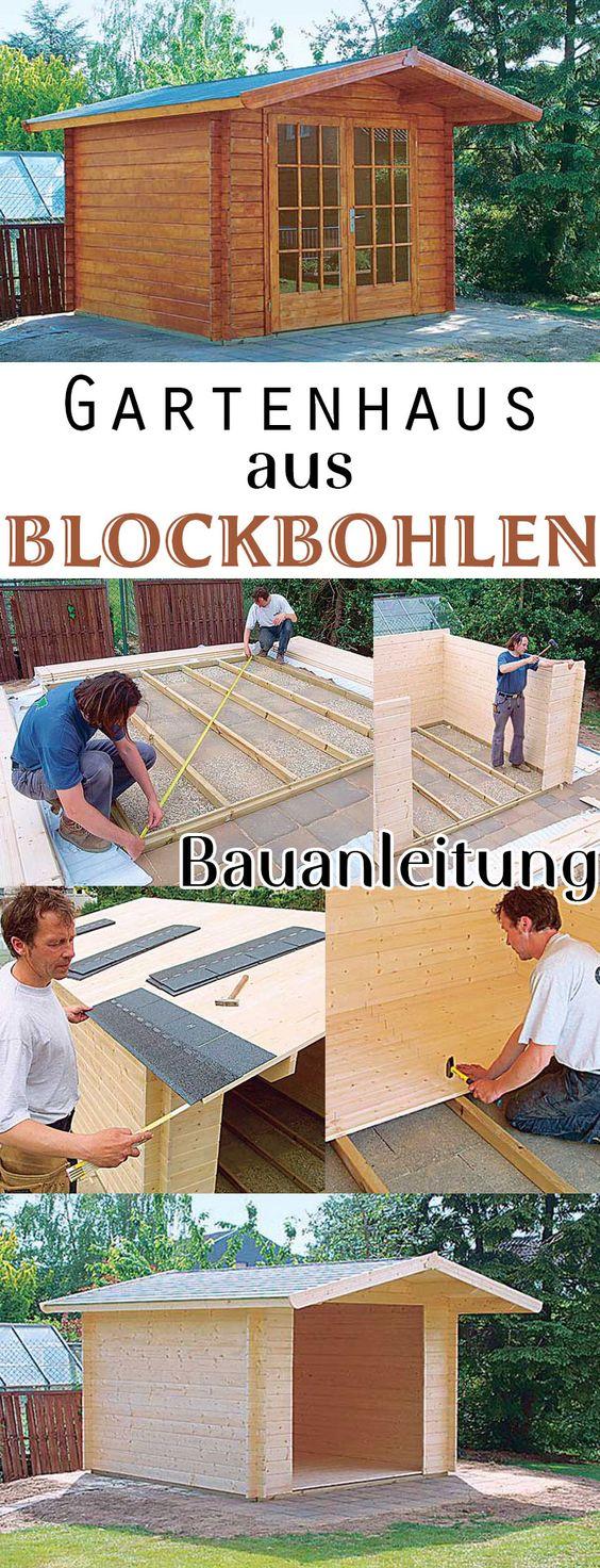 Ein Gartenhaus wird oftmals als Bausatz geliefert. Die Kosten des Aufbaus kann man sich als Heimwerker sparen und einfach selbst machen. Wir zeigen, wie man ein Gartenhaus aus Blockbohlen Schritt für Schritt aufbaut.