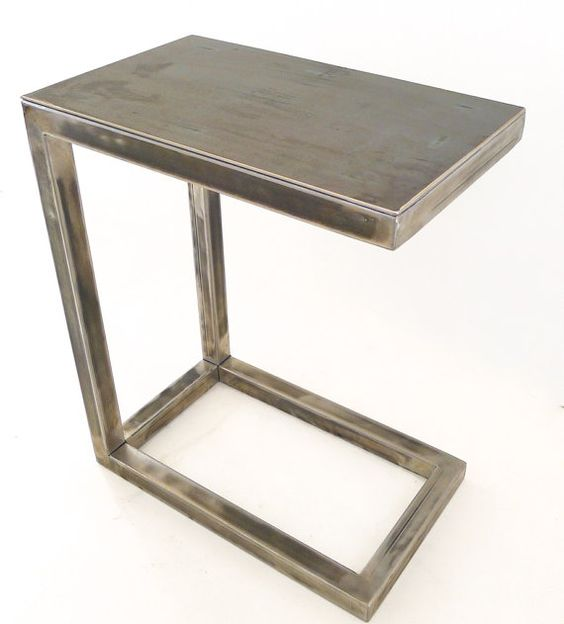 All Welded Metal Miller C Table Perfect For A Laptop Or