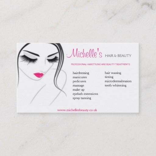Hair Beauty Salon Business Card Design Zazzle Com Salon Business Cards Design Beauty Salon Business Cards Hair And Beauty Salon