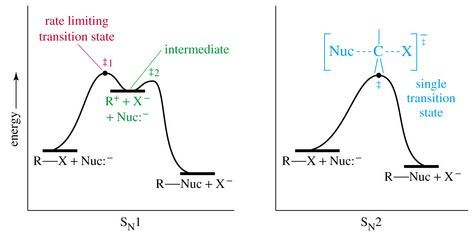 Energy Diagrams Sn1 And Sn2 Chemistry Help Potential Energy Organic Chemistry