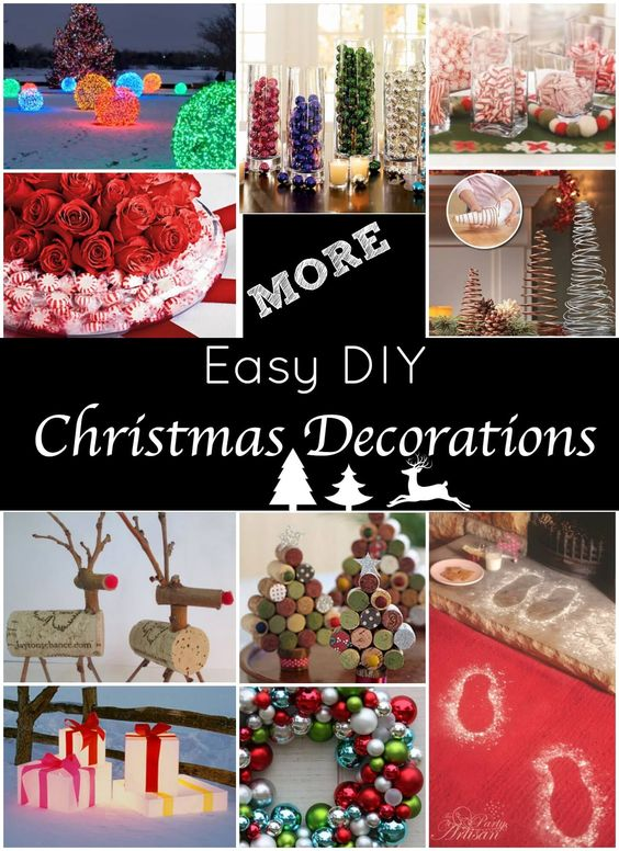 The best diy holiday decor on pinterest diy christmas for Christmas decoration items