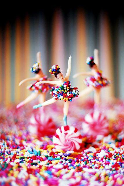 Love Sprinkles!!! #ballerinas #cake toppers #Sprinkles