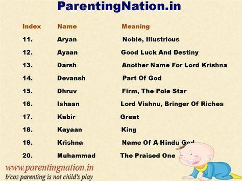 30+ Unique boy baby names hindu ideas in 2021