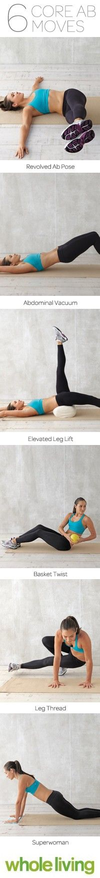 6 Core Ab Moves: Ab Move, Workout Ab, Work Out, Fitness Workout, Ab Exercise
