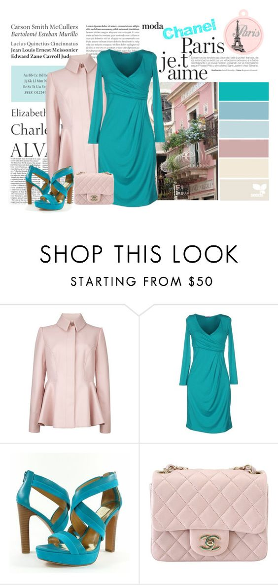 """""""Paris"""" by daisy1980 ❤ liked on Polyvore featuring Victoria Beckham, Tiffany & Co., Ted Baker, Blugirl Folies, Chanel and Seed Design"""