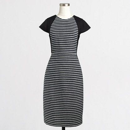 J.Crew Factory - Factory striped tweed dress