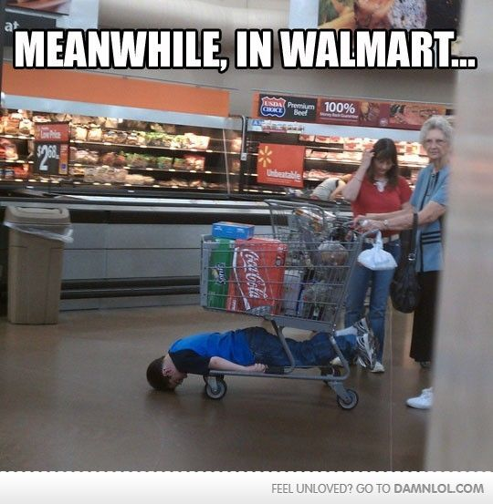 Meanwhile, In Walmart......