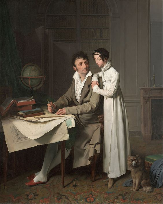 1812 The Geography Lesson (Portrait of Monsieur Gaudry and His Daughter)