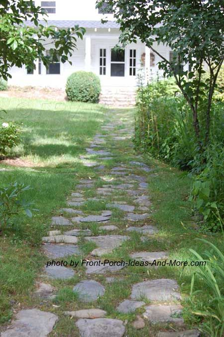 Walkway ideas to create exquisite curb appeal stone for Stone path in grass