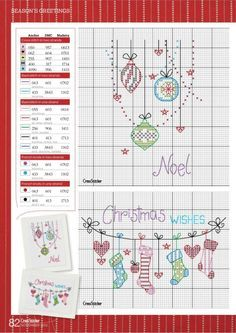 Christmas cross stitch. navidad punto de cruz