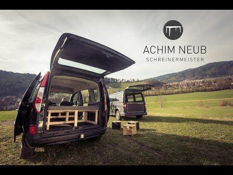 Kangoo Camping Bett Von Achim Neub Schreinermeister Youtube Volkswagen Touran Camping Campingbett