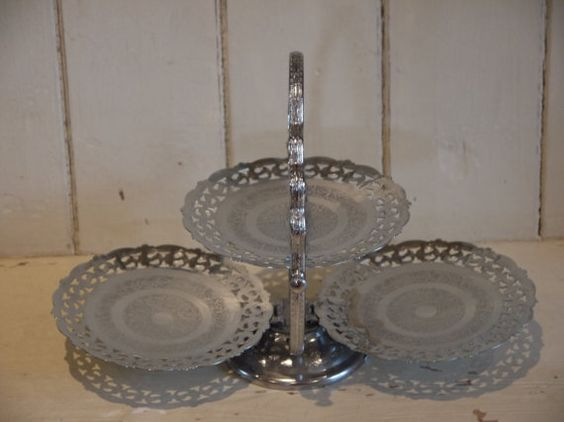 Vintage Cake Stand  Afternoon Tea by VintiqueTree on Etsy