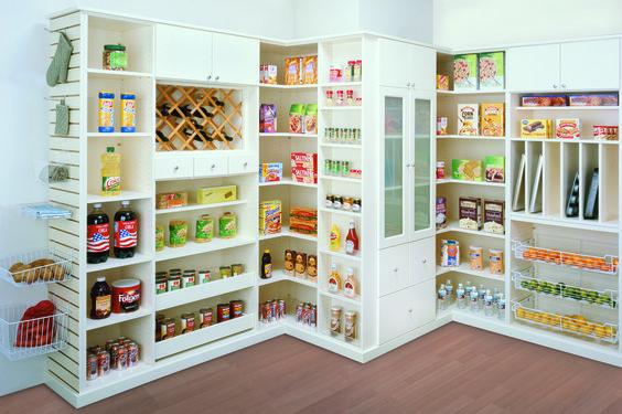 Slat Wall Kitchen Pantry