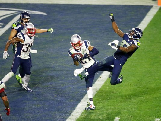 The Butler did it !!!  Malcom Butler  and his Super Bowl game winning catch ! New England Patriots WIN !!!