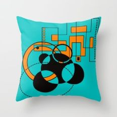 Atomic Floor Plan II Throw Pillow