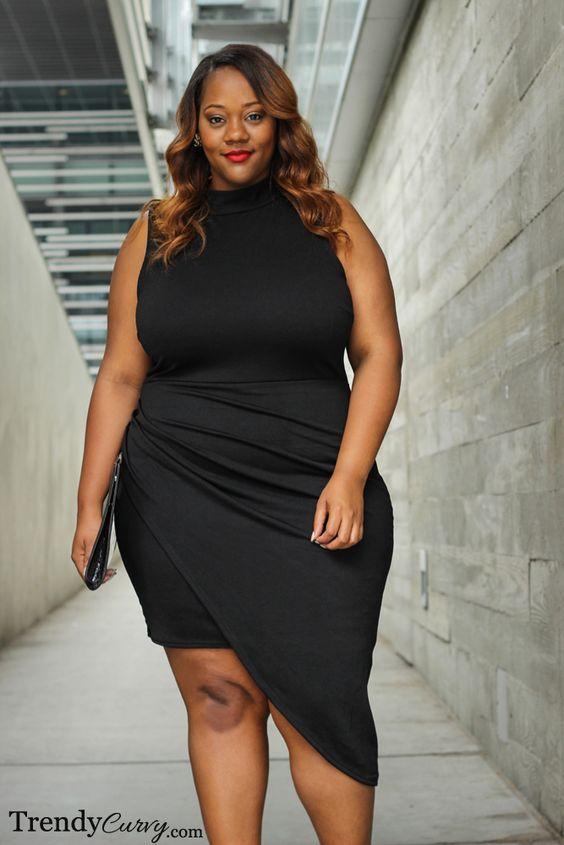 11 Plus Size Short Black Dresses For Fashionable Outfits Curvyoutfits Com Plus Size Fashion Plus Size Black Dresses Size Fashion
