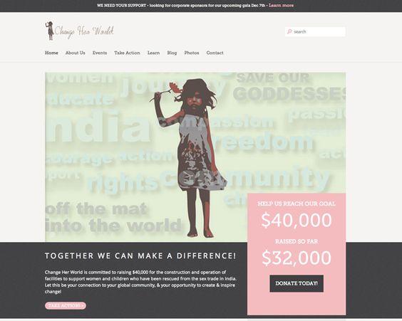 Change Her World Website by Sea Salt Web Development