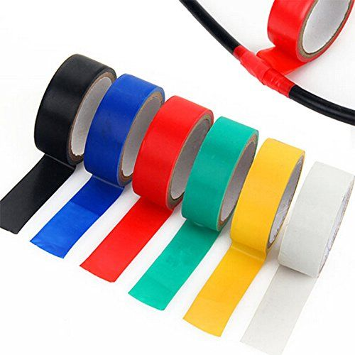 Amazon Com White Vinyl Electrical Tape Pvc Electrical Wire Insulating Tape 16mm Wide Each One 10 Rolls Home Improvem Electrical Tape White Vinyl Colored Tape