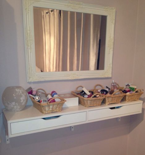 Details about ekby alex shelf with drawers make up counter for Miroir ikea hemnes