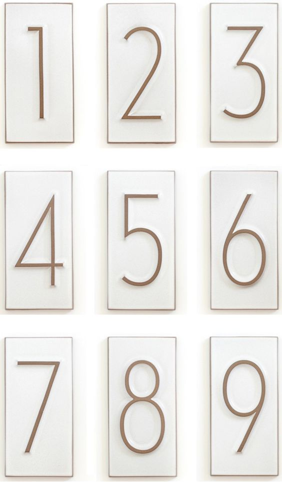 Neutra House Numbers House Industries Heath Ceramics