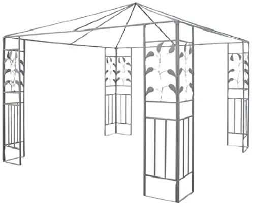 Amazing Offer On Outsunny 10 X 10 Steel Gazebo Frame Leaf Design Online Steel Gazebo Gazebo Leaf Design