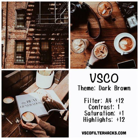 Dark Brown Instagram Feed Using VSCO Filter A4: