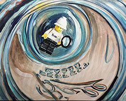 """Humm"" - watercolor on aquabord by Redstreake"