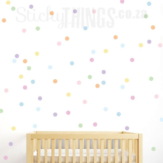 Confetti Pastel Polka Dot Wall Sticker - StickyThings.co.za
