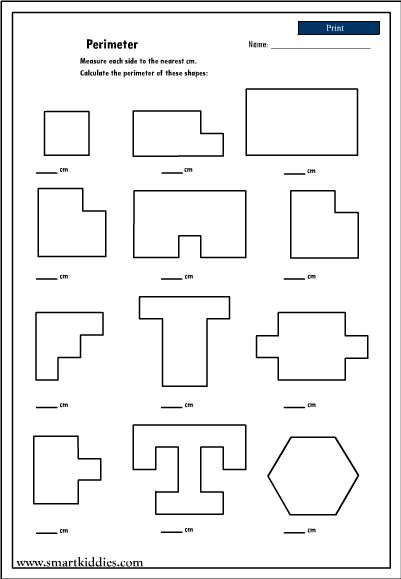 Perimeter of shapes, Worksheets and Shape on Pinterest