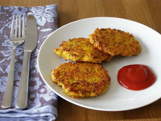 Maple Spice: Curried Carrot, Zucchini and Almond Feta Fritters